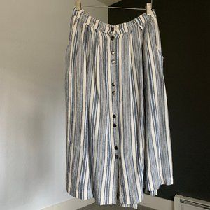 Life in Progress Striped Summer Midi Skirt